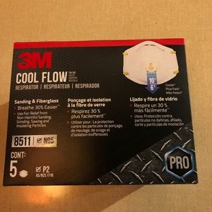 N95 3M 8511 cool flow mask (5count)